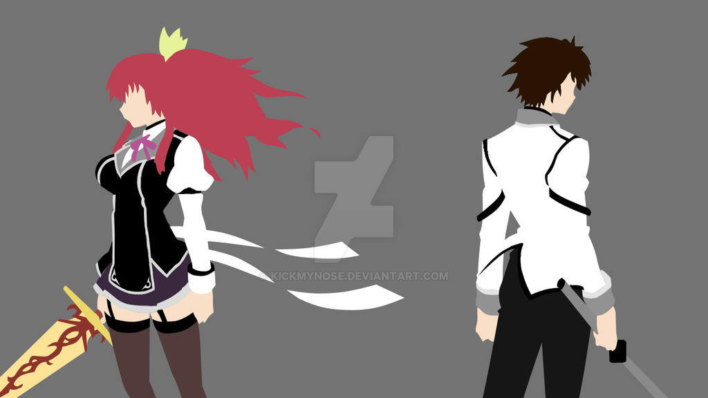 rakudai kishi no cavalry ikki and stella by kickmynose on deviantart