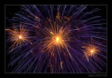 Orange and Violet Fireworks