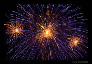 Orange and Violet Fireworks by Usabell12