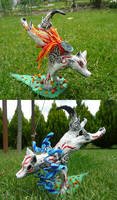 Sculpture: Okami Amaterasu by NoreyDragon