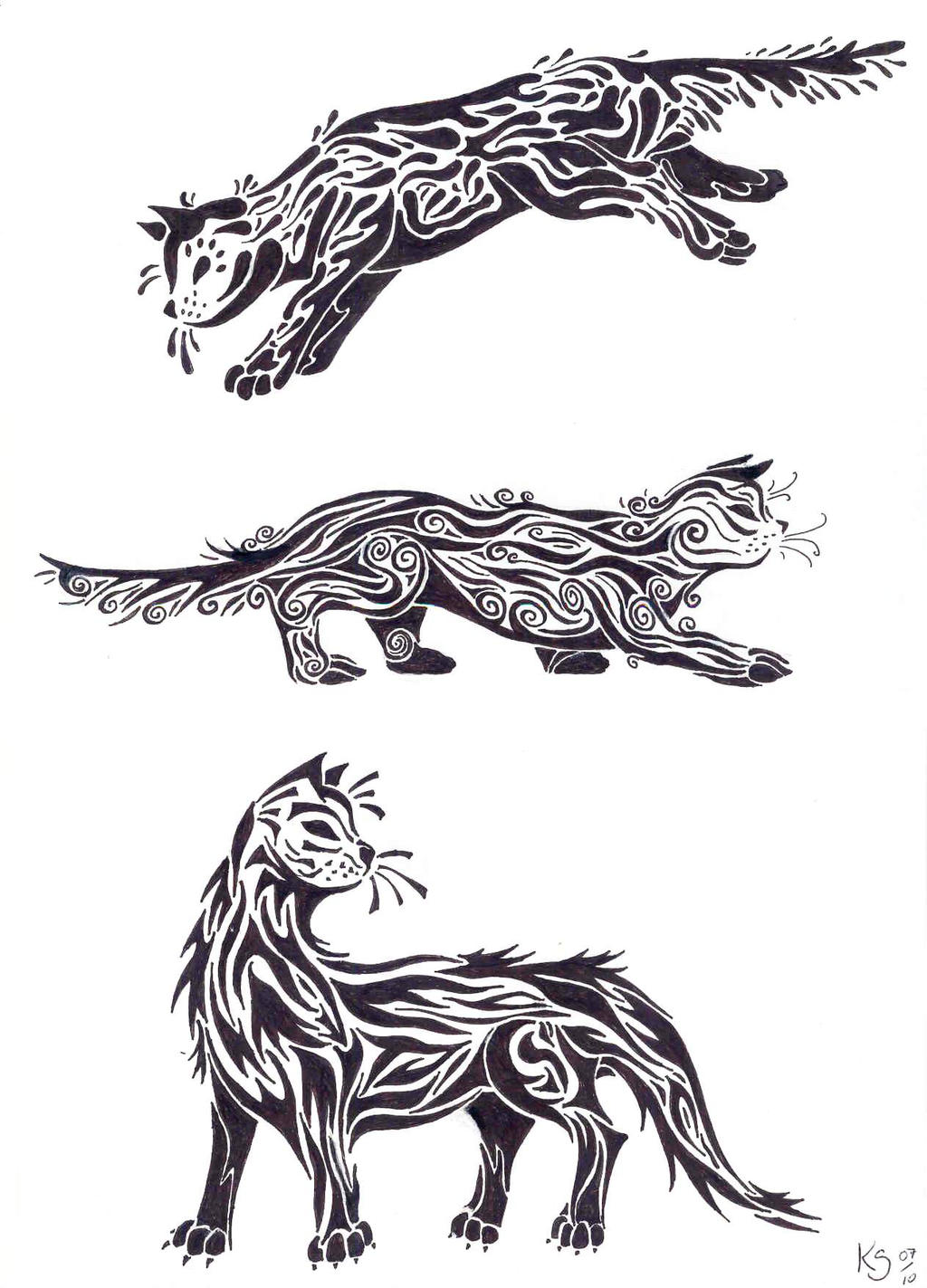 how to draw warrior cats fighting