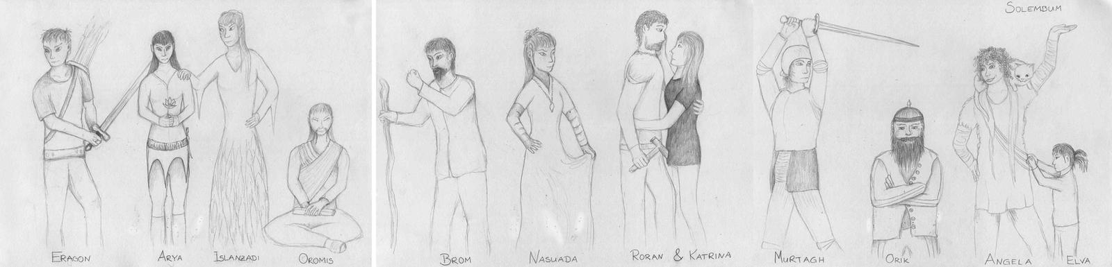 Eragon Book Characters My Eragon Character designs by