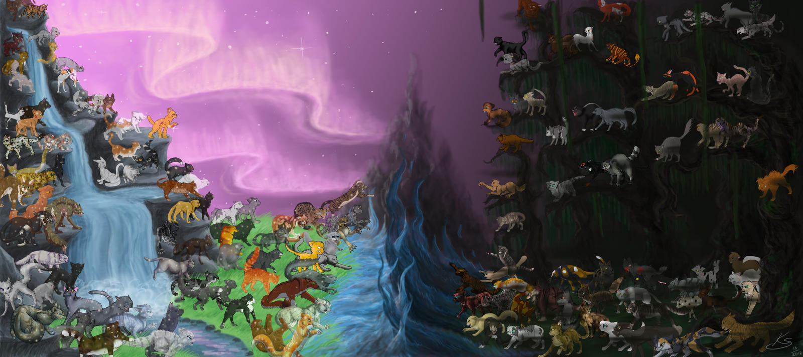 StarClan vs Dark Forest - COLLAB by NoreyDragon