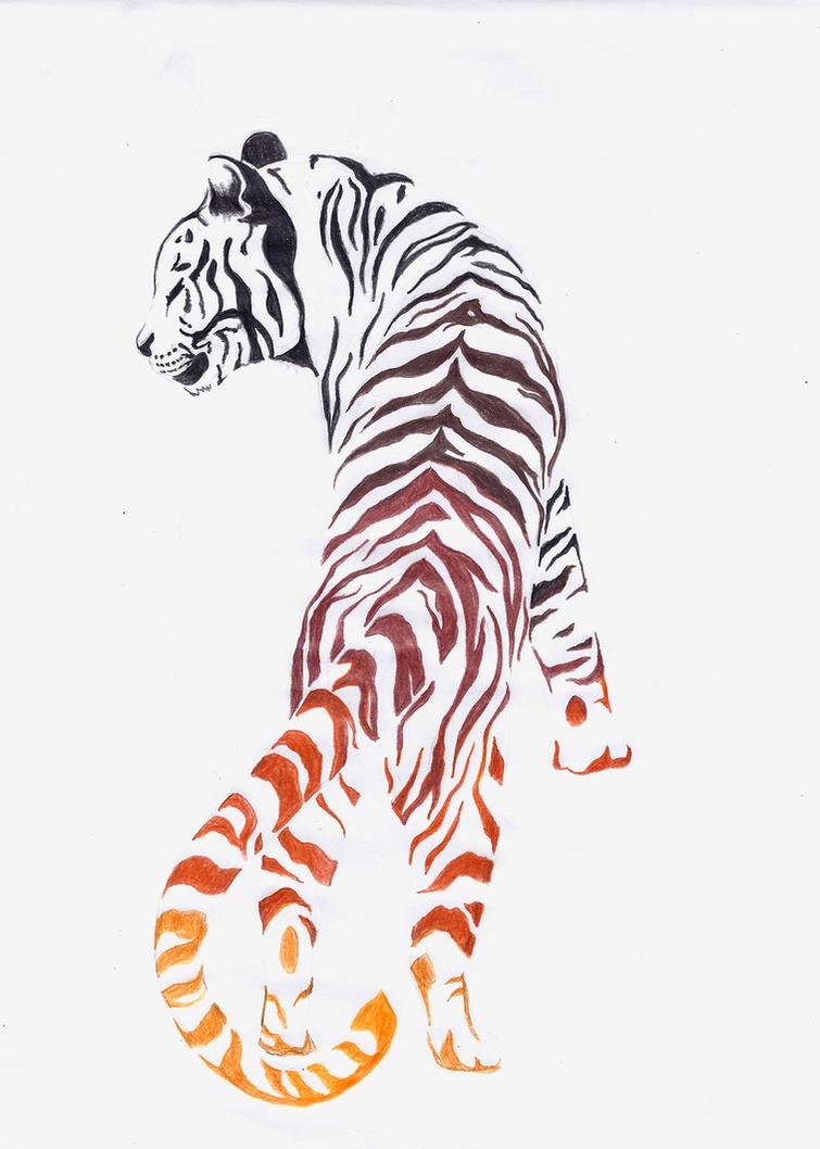 tiger tattoo design by noreydragon on deviantart. Black Bedroom Furniture Sets. Home Design Ideas