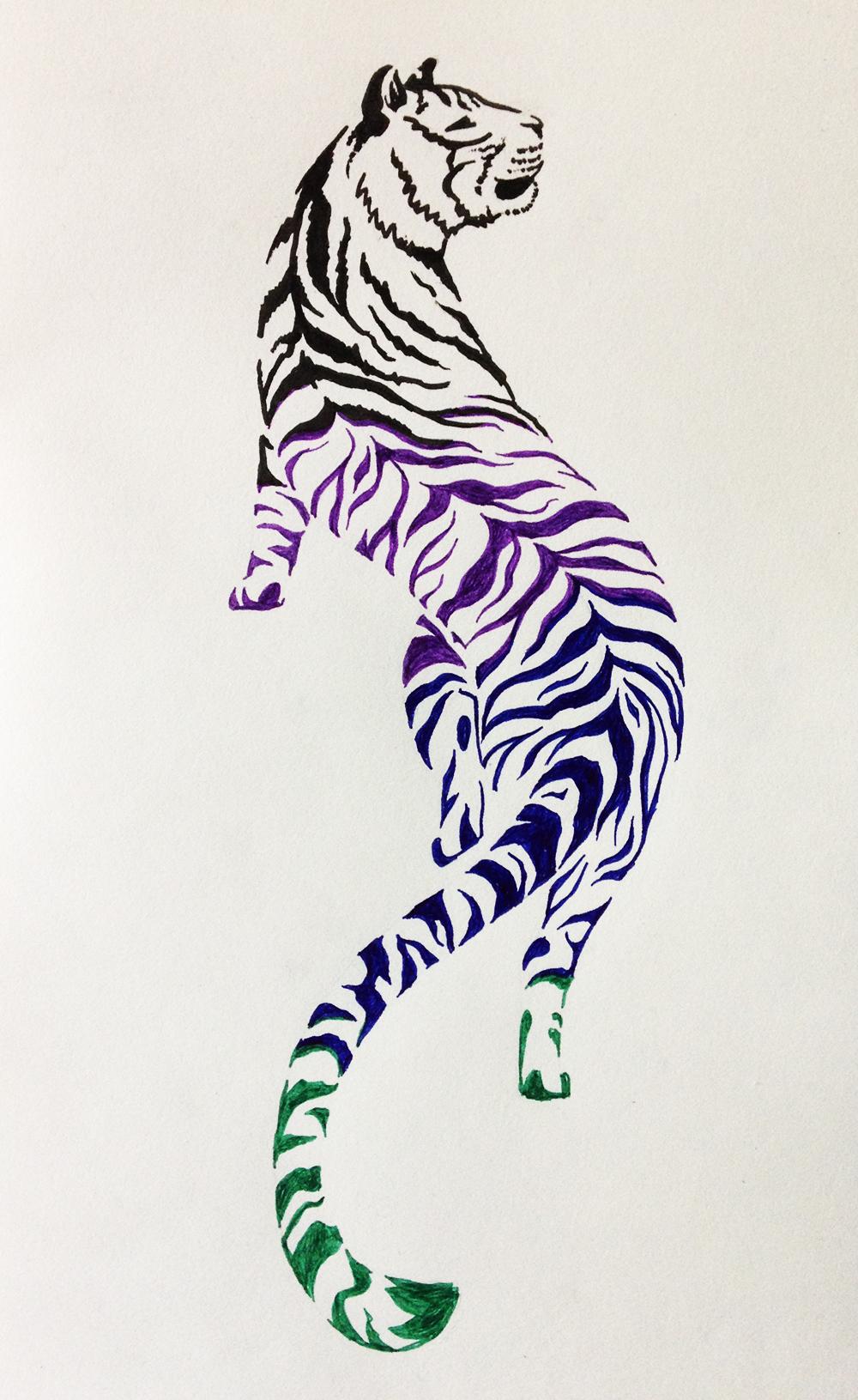 tiger tattoo design 2 by noreydragon on deviantart. Black Bedroom Furniture Sets. Home Design Ideas