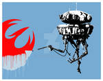 Probe Droid with rebel sign 2