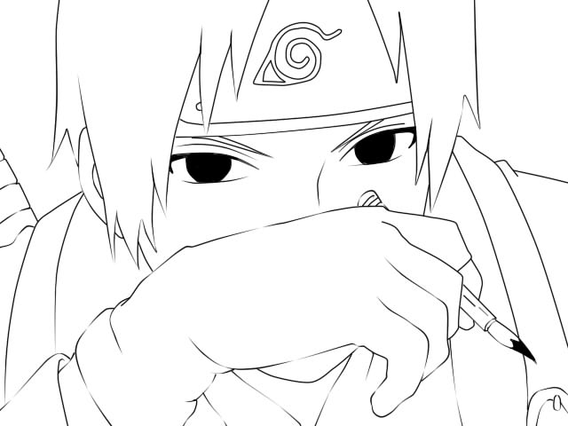 Sai Lineart : Sai lineart by kurama luv on deviantart