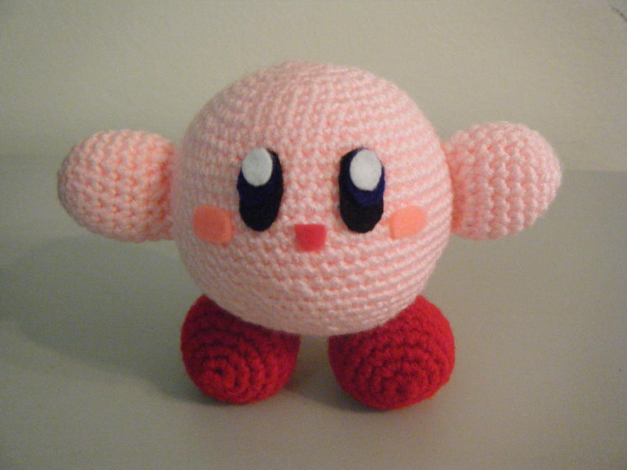 R2d2 Amigurumi Pattern Free : kirby crocheted plushie by pepper-p on DeviantArt
