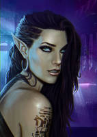 Shadowrun Elf Portrait by ARTTAiR