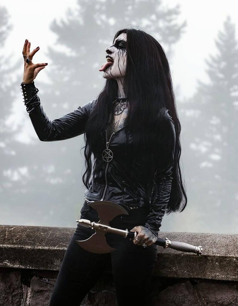 Girl black metal 3 Ways
