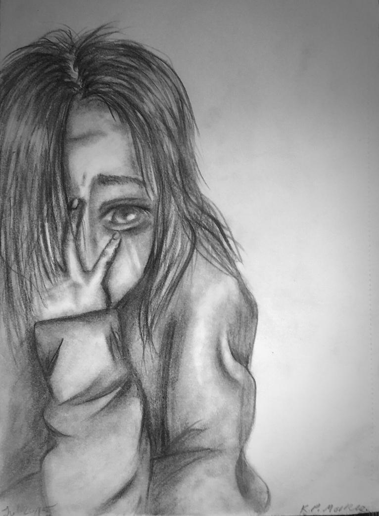 Heartbreaking Depression By Screameo4