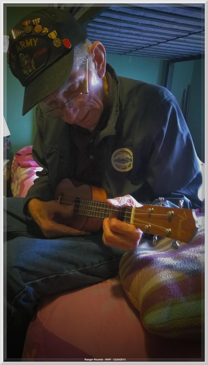 Pappy with soprano uke by slowdog294