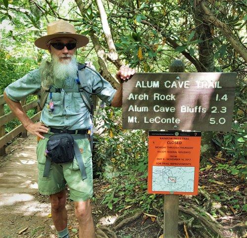 Ranger Ricardo at Alum Cave Sign Post by slowdog294