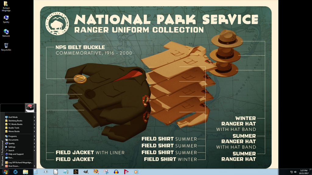 Windows 7 on Spanky - USNPS Ranger Clothes by slowdog294