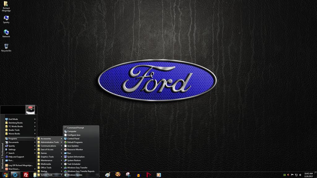 Windows 7 On Spanky Ford Motor Company By Slowdog294 On Deviantart