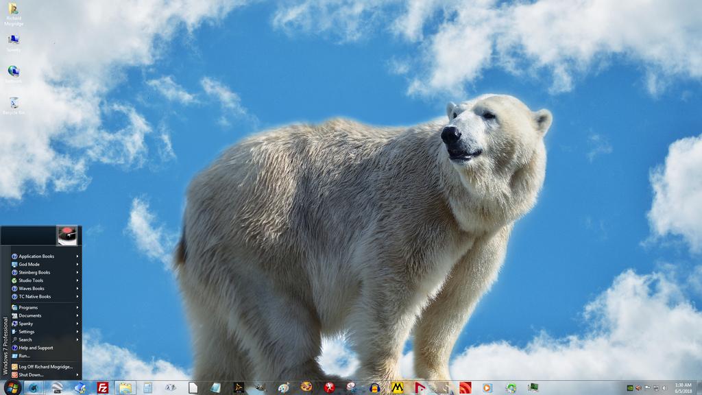 Windows 7 on Spanky - Roley Poley by slowdog294
