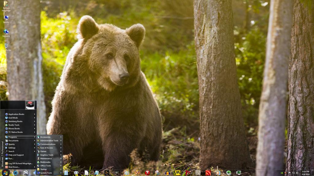 Windows 7 on Spanky - Papa Grizzly by slowdog294