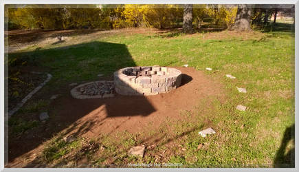 New Fire Pit at the Hut