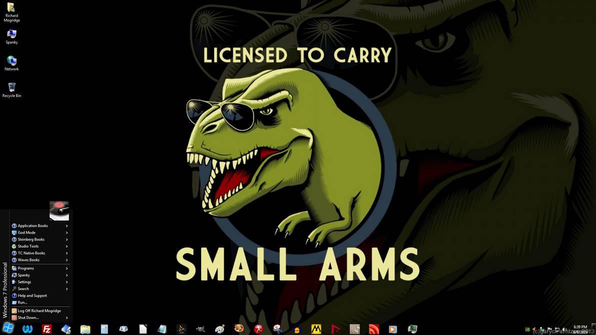 Windows 7 on Spanky - Tiny Weapons by slowdog294 on DeviantArt