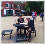 Lilith and Ricardo at Market Square 1