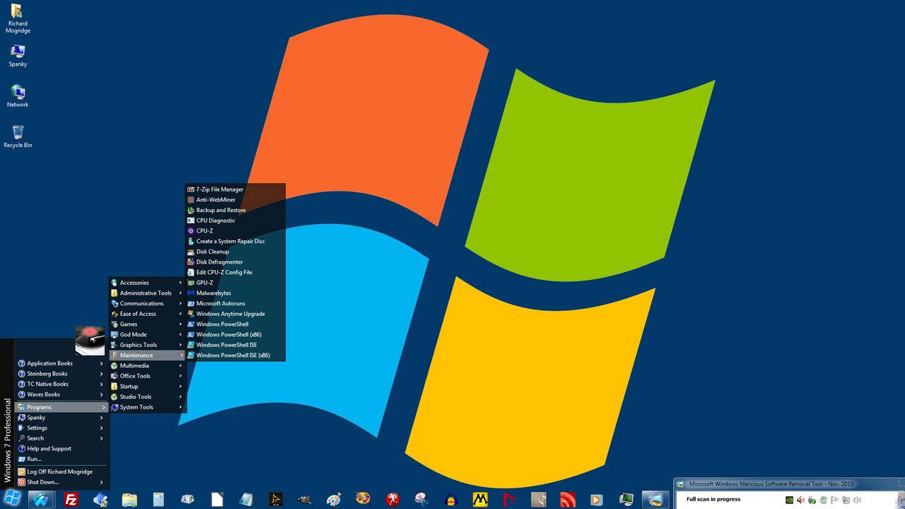 Windows 7 on Spanky - Wild Blue Yonder