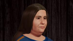 Karate Woman Facial Portrait 1