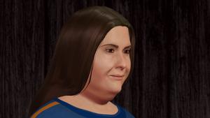 Karate Woman Facial Portrait 2