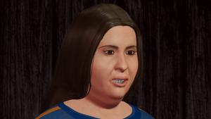 Karate Woman Facial Portrait 3