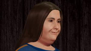 Karate Woman Facial Portrait 4
