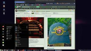 Linux Mint on Spanky - Waterfox on dA