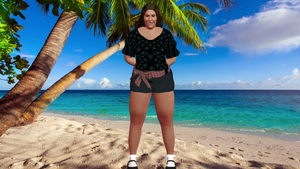 Judy modeling at the beach 3
