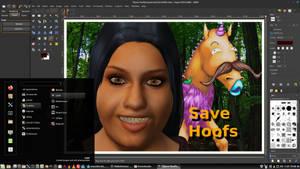 Hashtag Save Hoofs.
