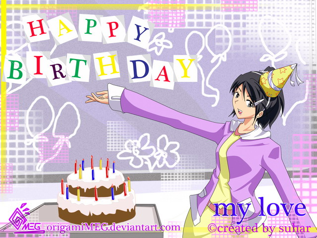 Greeting cards happy birthday my love by origamimeg on deviantart greeting cards happy birthday my love by origamimeg bookmarktalkfo Choice Image