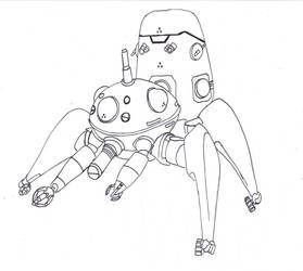 Tachikoma - line art