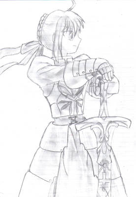 Saber - uncolored - uninked