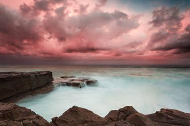 North Avoca Storm Sunset