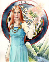 Eir - Goddess of healing by NicoleCadet