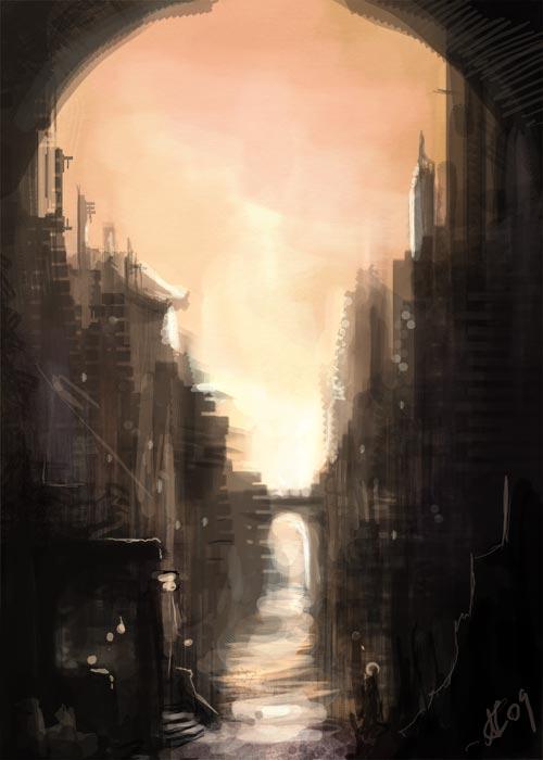 Speedpaint - City Limits by NicoleCadet