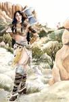 Brhea female barbarian commission