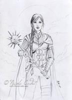 Sarah, the Cleric (Got Mace?) by NicoleCadet