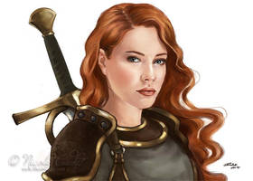 RPG cleric portrait Vika by NicoleCadet