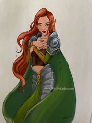 Elf warrior woman by NicoleCadet