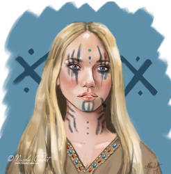 Fantasy character face study by NicoleCadet