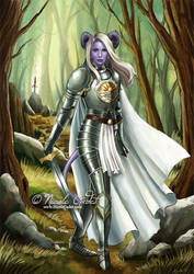Ria - Forgotten Realms DnD tiefling paladin by NicoleCadet
