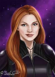 Tish - scifi portrait by NicoleCadet