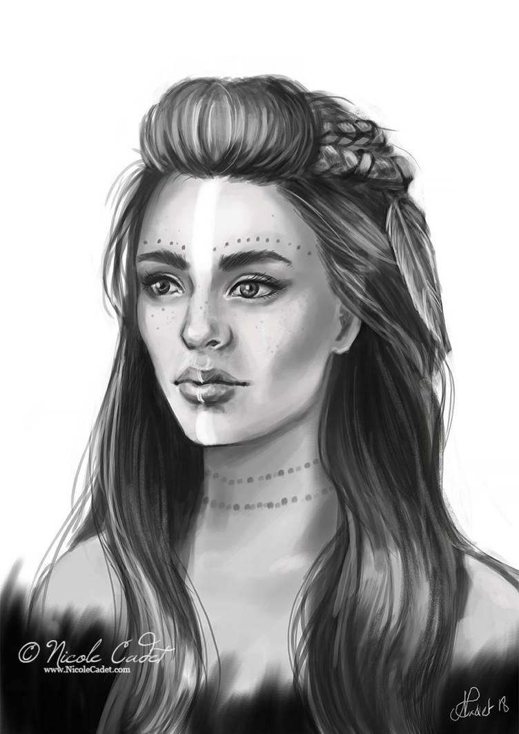 Tribal character portrait by NicoleCadet