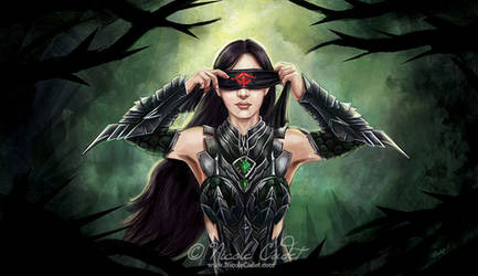 Donning the headscarf - GW2 fan art by NicoleCadet