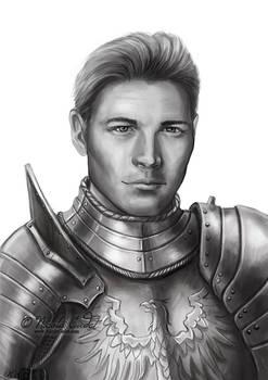 Klaus DnD Knight character portrait commission