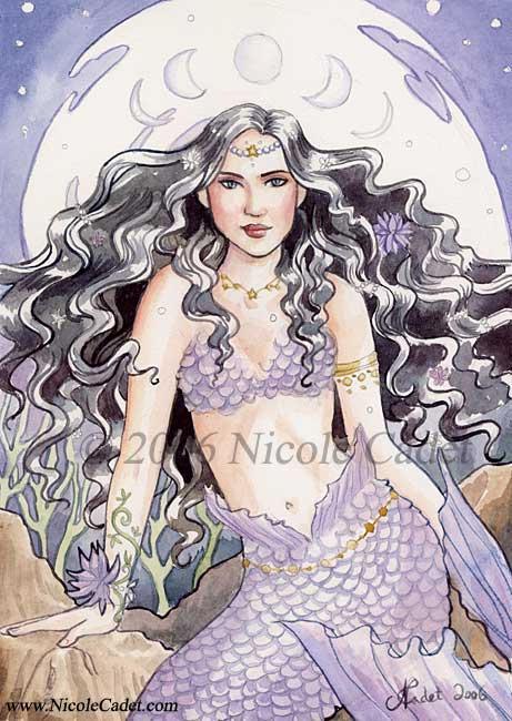 Amethyst Mermaid by NicoleCadet