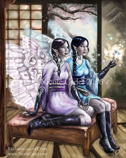 Yumiko and Yukiko by NicoleCadet